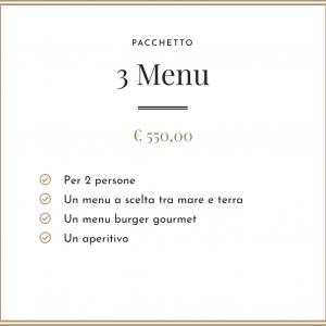 Pacchetto - 3 Menu